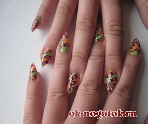 Леопардовый дизайн на ногтях