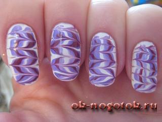 Яркие рисунки на ногтях
