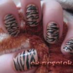 """Фотоурок """"Как украсить ногти тигровым принтом"""""""
