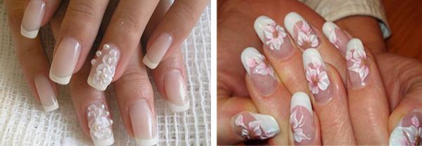свадебный дизайн ногтей: