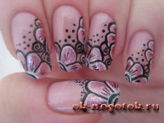 уроки дизайн ногтей акриловыми красками
