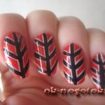 Фото урок рисунки на ногтях красками «Острые углы»
