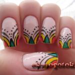 Орнамент на ногтях в марокканском стиле (фото урок)