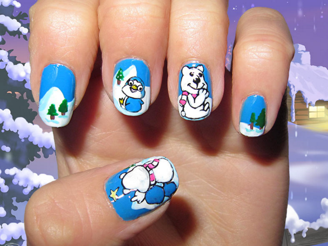 Рисунки котов на ногтях фото