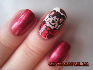 дизайн ногтей обезьянка 2016