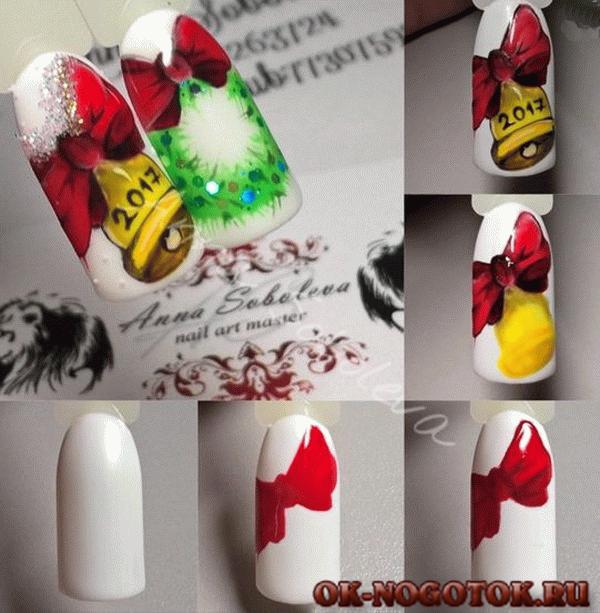 Дизайн ногтей гелевыми ручками